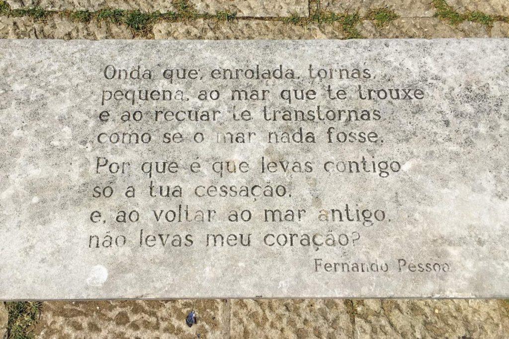 Fernando Pessoa scritta