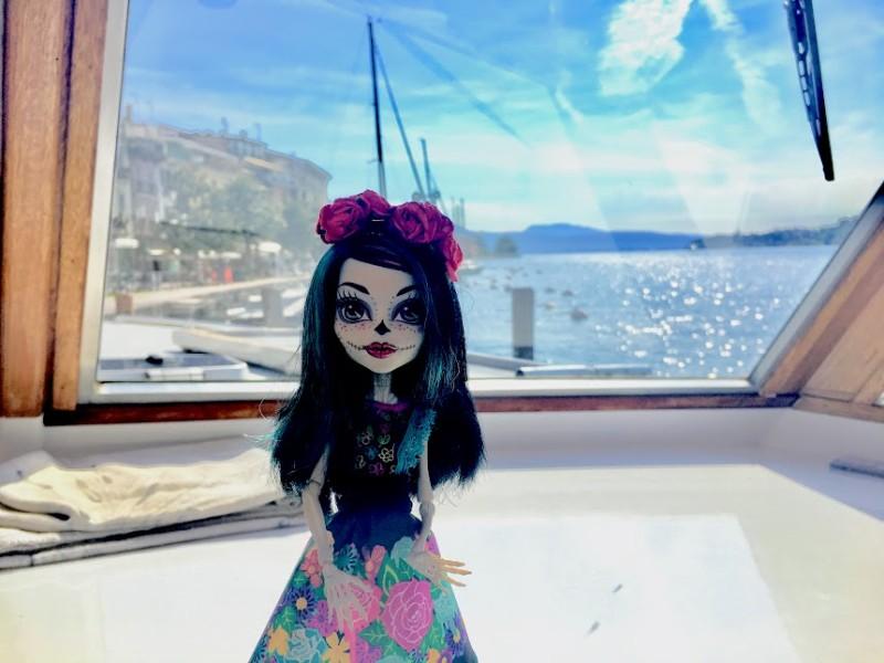 Crackita in barca per Isola del Garda
