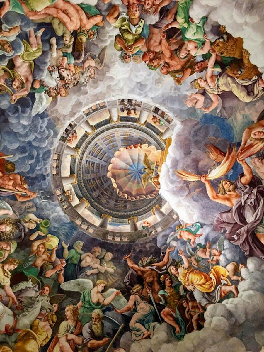 Sala dei Giganti: una delle più note stanze affrescate all'interno del Palazzo Te