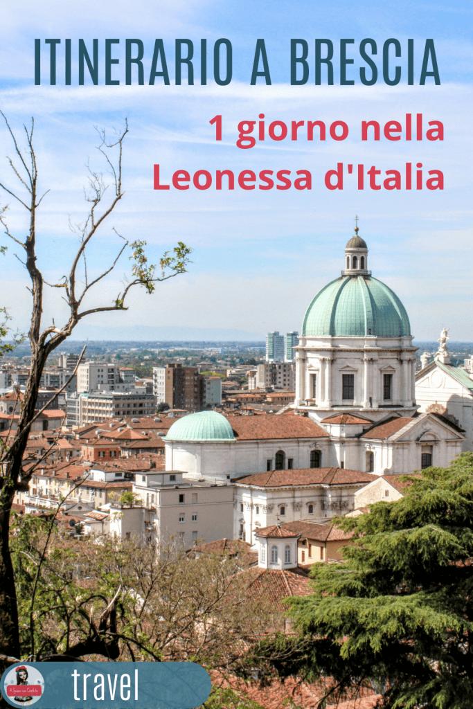 Itinerario a Brescia- un giorno nella leonessa d'Italia grafica per Pinterest