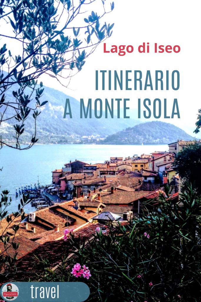 Lago di Idseo - itinerario a Monte Isola grafica per pinterest