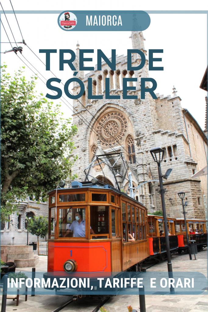 Tren de Soller informazioni, tariffe e orari - grafica per Pinterest