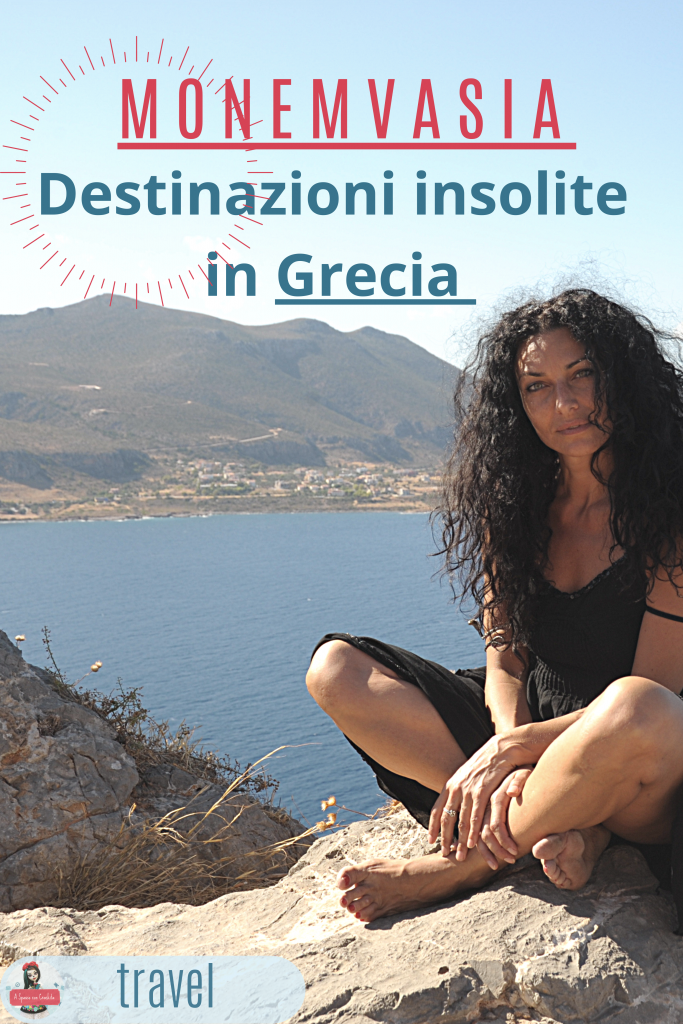 Monemvasia - destinazioni insolite in Grecia - grafica per pinterest