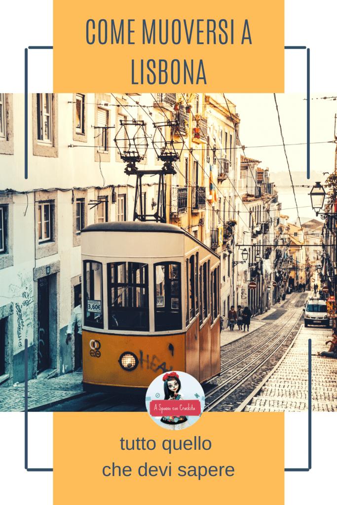 Come muoversi a Lisbona - grafica per pinteres
