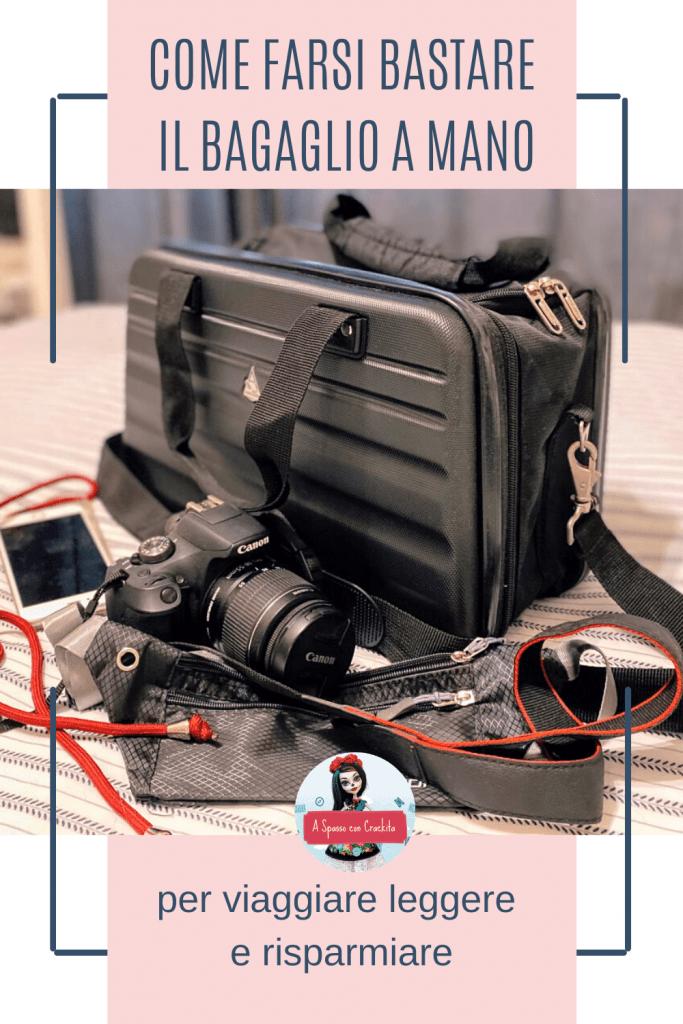 Farsi bastare il bagaglio a mano grafica per Pinterest