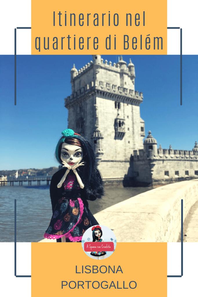 itinerario nel quartiere della Torre di belem grafica per Pinterest