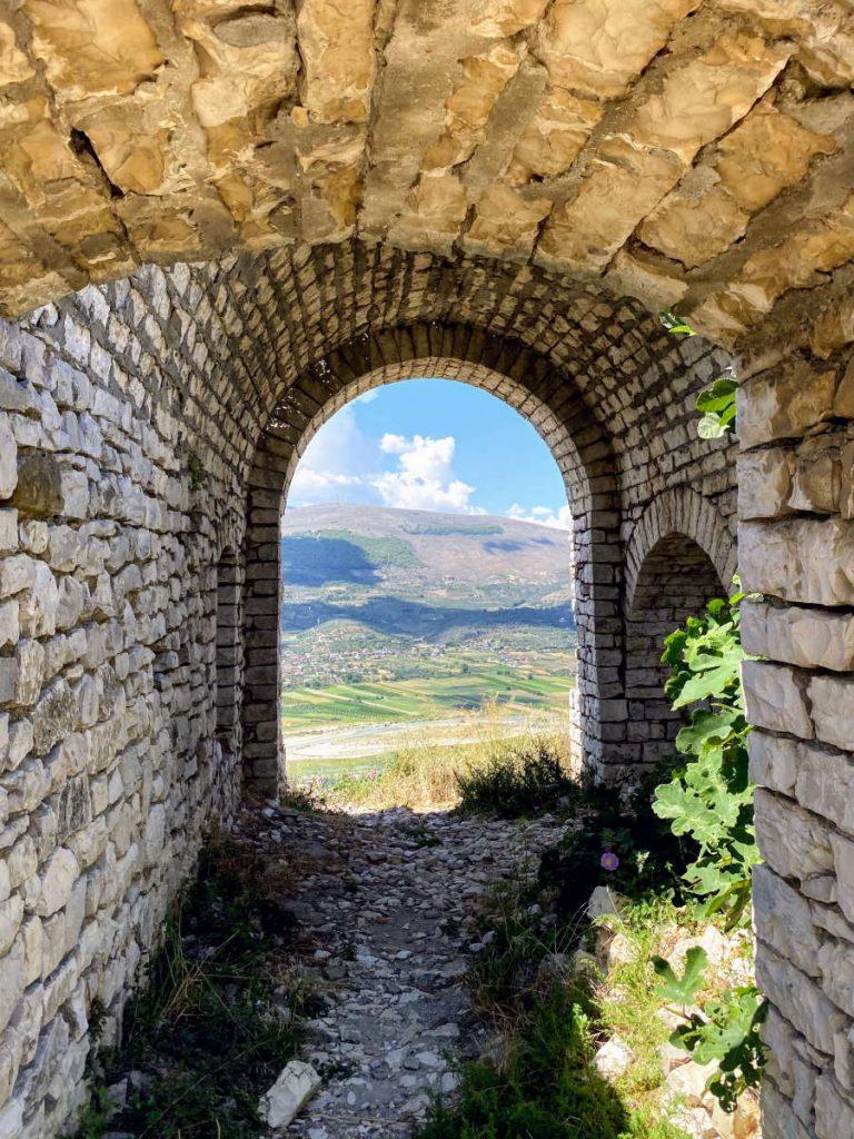 Rovine all'interno del Castello di Berat