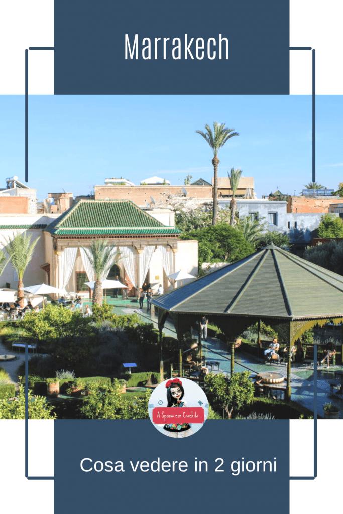 Cosa vedere a Marrakech grafica per Pinterest