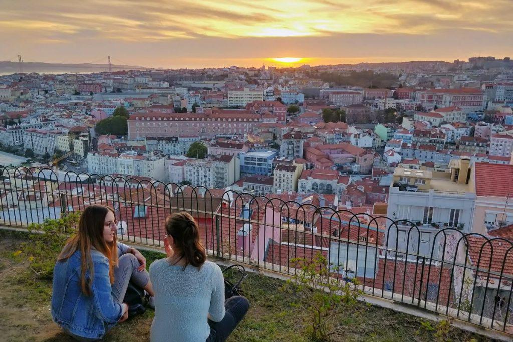 Tramonto a Lisbona Miradouro santa Catarina
