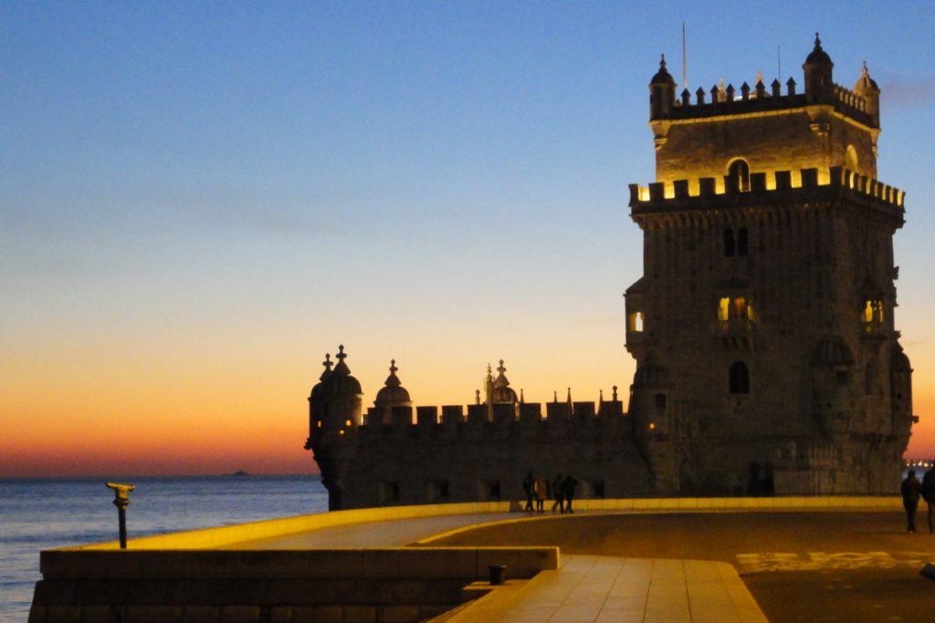 Tramonto a Lisbona - torre de Belem