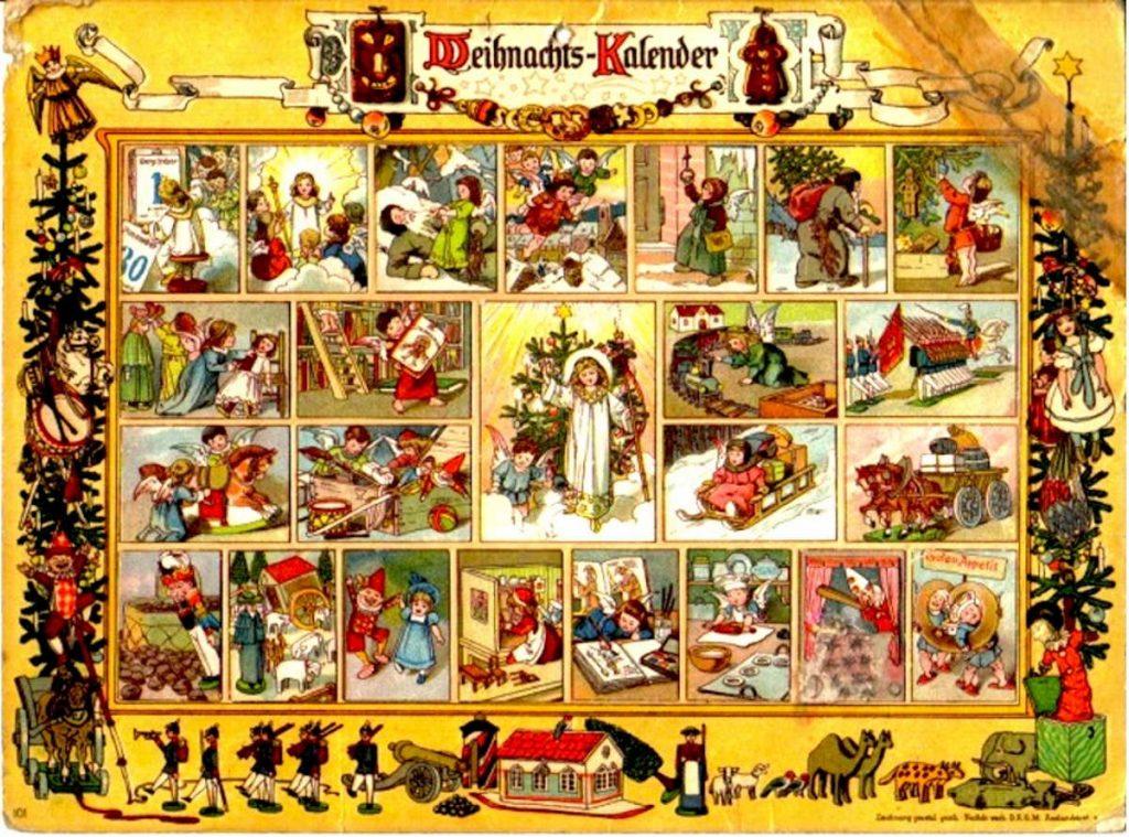 Calendario dell'Avvento realizzato in Germania nel 1913