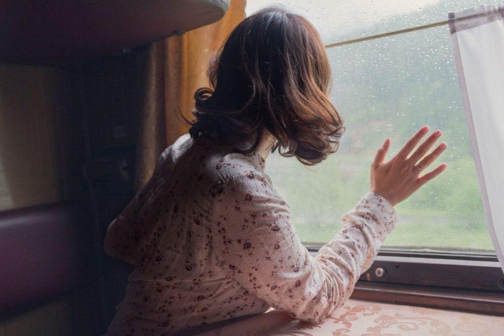 Galateo in treno ragazza al finestrino